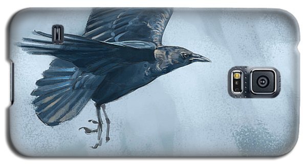 Galaxy S5 Case featuring the digital art Crow by Aaron Blaise