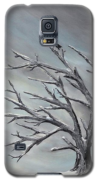 Galaxy S5 Case featuring the painting Crow In Tree by Jesslyn Fraser