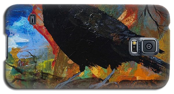 Crow On A Branch Galaxy S5 Case