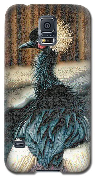 Crowned Crested Crane Galaxy S5 Case