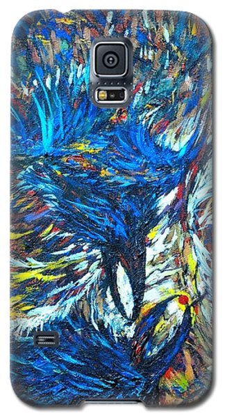 Galaxy S5 Case featuring the painting Crows by Charles Munn