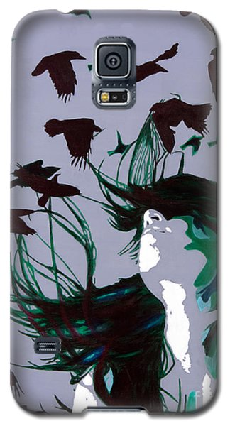 Galaxy S5 Case featuring the painting Crows by Denise Deiloh