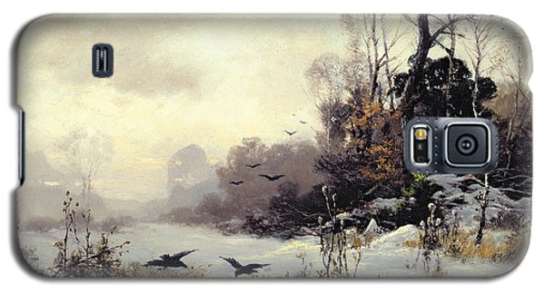 Crows In A Winter Landscape Galaxy S5 Case