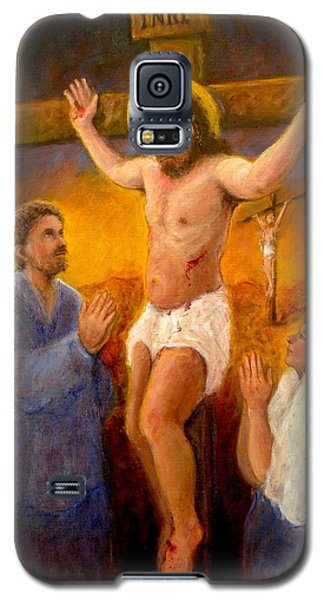 Galaxy S5 Case featuring the painting Crucifixion by Donelli  DiMaria