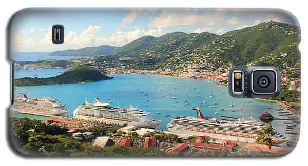 Cruise Ships In St. Thomas Usvi Galaxy S5 Case