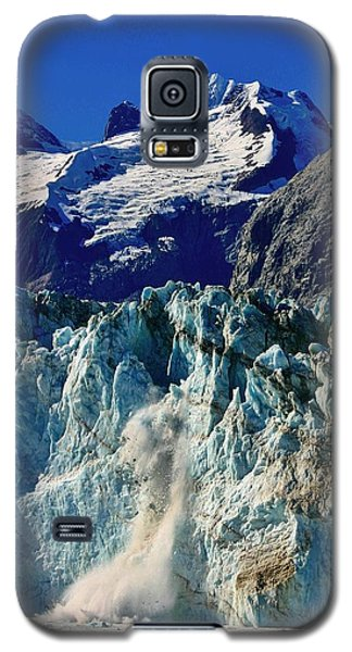 Galaxy S5 Case featuring the photograph Crumbling Glacier by Henry Kowalski
