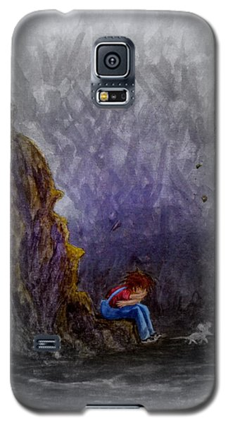 Galaxy S5 Case featuring the painting Crying ... by Matt Konar