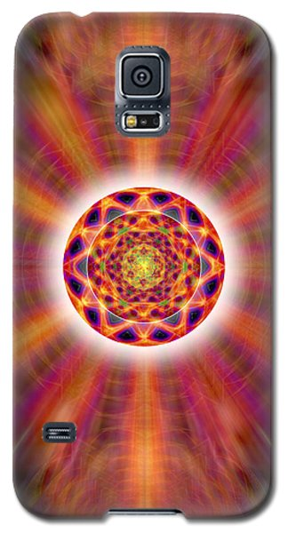 Galaxy S5 Case featuring the drawing Crystal Ball Of Light by Derek Gedney