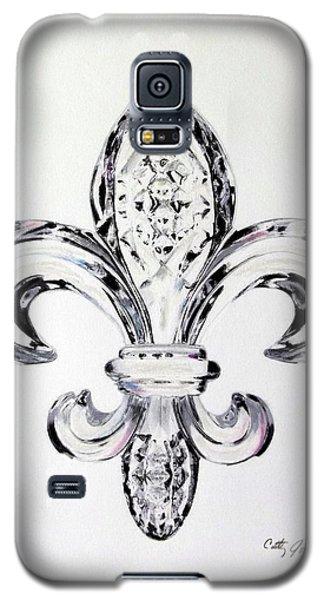 Crystal Fleur De Lis Galaxy S5 Case