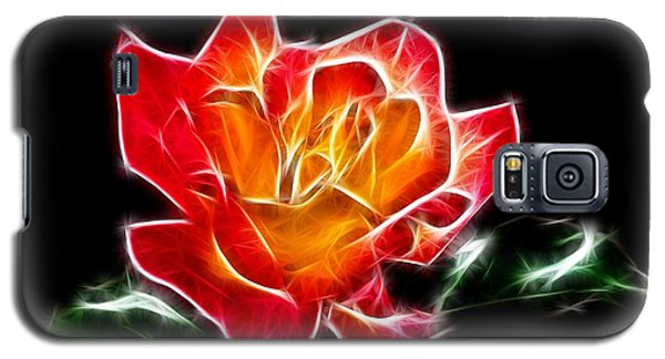 Galaxy S5 Case featuring the photograph Crystal Rose by Mariola Bitner