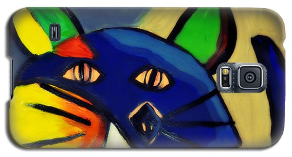 Cubist Inspired Cat  Galaxy S5 Case by Mindy Bench