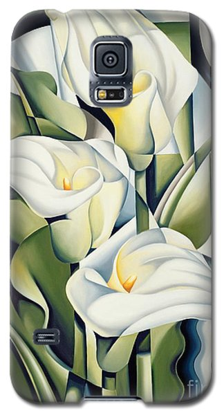 Cubist Lilies Galaxy S5 Case by Catherine Abel