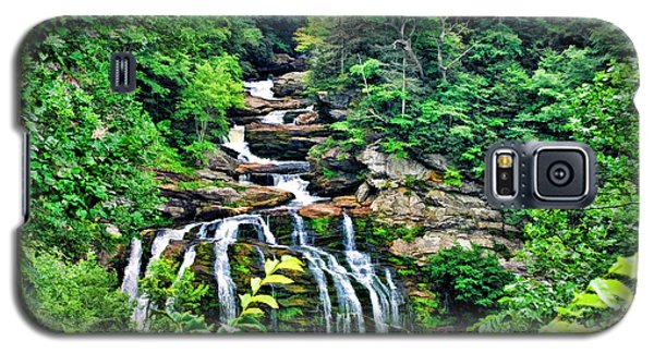 Galaxy S5 Case featuring the photograph Cullasaja Falls by Kenny Francis