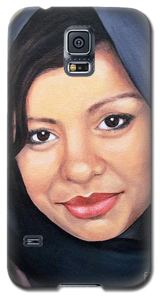 Galaxy S5 Case featuring the painting Cultured Beauty by Malinda  Prudhomme