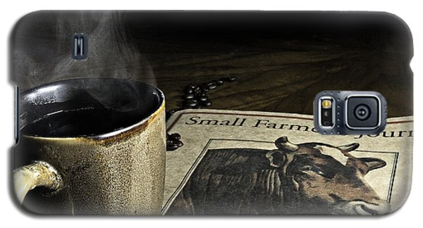 Cup Of Coffee And Small Farmer's Journal 1 Galaxy S5 Case