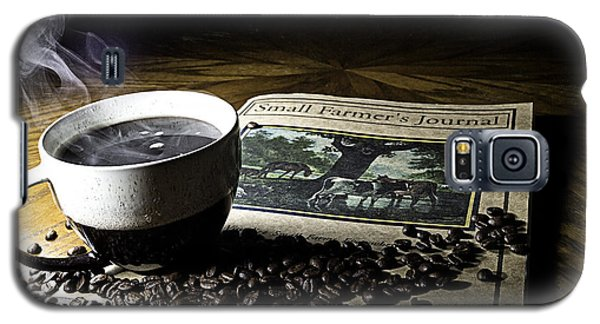 Cup Of Coffee And Small Farmer's Journal 2 Galaxy S5 Case