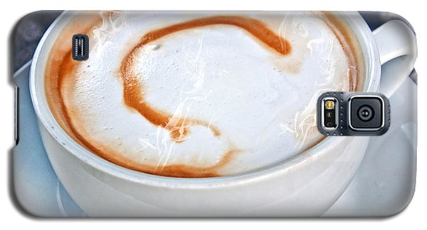 Cup Of Coffee Latte With Letter C  Galaxy S5 Case