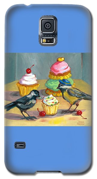 Cupcakes And Chickadees Galaxy S5 Case by Susan Thomas