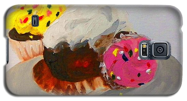Galaxy S5 Case featuring the painting Cupcakes by Marisela Mungia