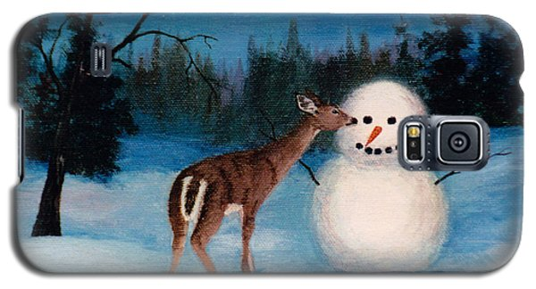 Galaxy S5 Case featuring the painting Curiosity by Brenda Thour