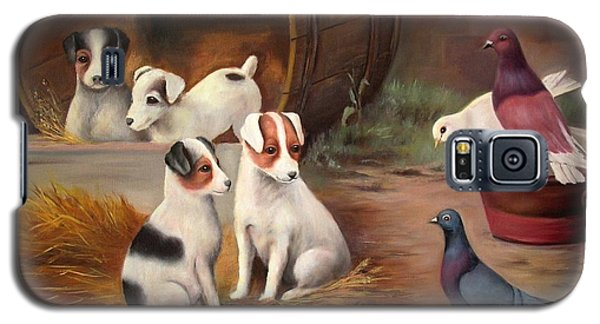 Galaxy S5 Case featuring the painting Curious Friends by Hazel Holland