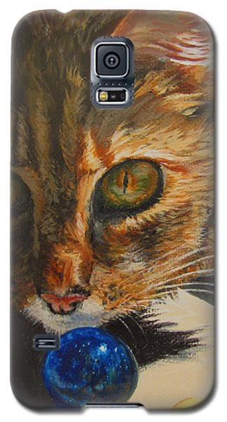 Galaxy S5 Case featuring the painting Curious by Karen Ilari