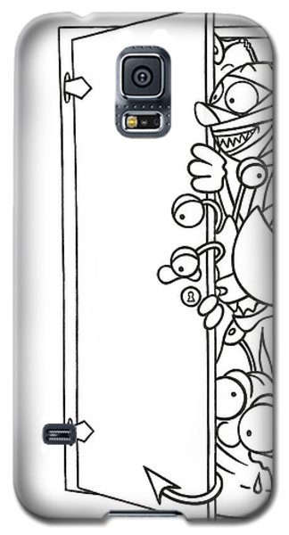 Curious Monster Galaxy S5 Case