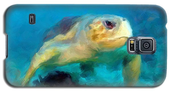 Curious Sea Turtle Galaxy S5 Case by David  Van Hulst