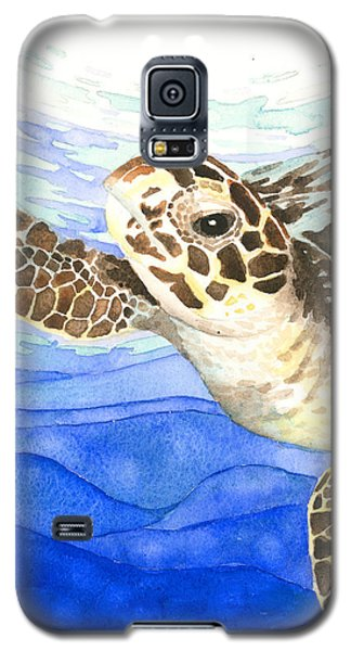 Curious Sea Turtle Galaxy S5 Case