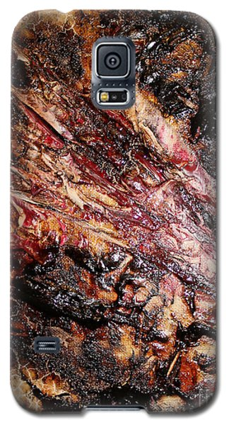 Galaxy S5 Case featuring the painting Curl Up And Dye by Lucy Matta