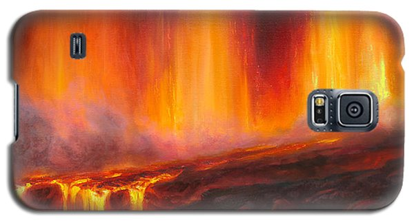Erupting Kilauea Volcano On The Big Island Of Hawaii - Lava Curtain Galaxy S5 Case