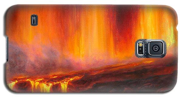 Erupting Kilauea Volcano On The Big Island Of Hawaii - Lava Curtain Galaxy S5 Case
