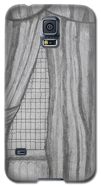 Galaxy S5 Case featuring the drawing Curtains In A5 by Martin Blakeley