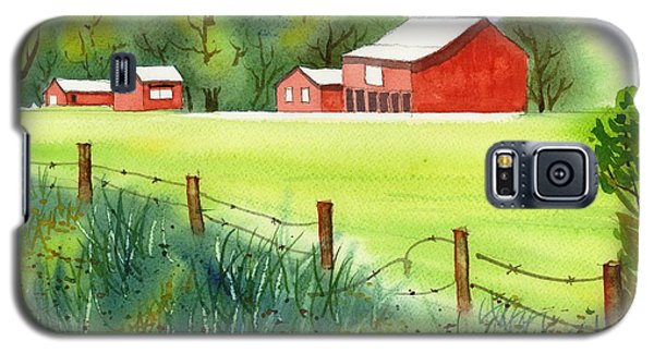 Galaxy S5 Case featuring the painting Curtis Farm Remix by Yolanda Koh