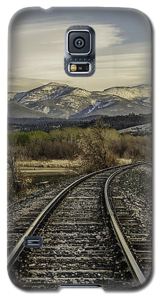 Galaxy S5 Case featuring the photograph Curve In The Tracks by Sue Smith