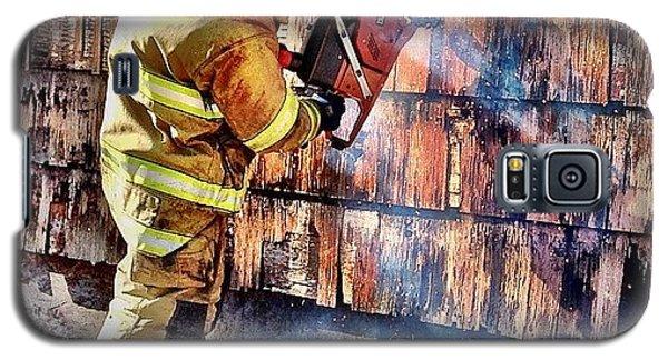 Professional Galaxy S5 Case - Cut Work #firefighter #saw #fire #jifd by Drew Castelhano