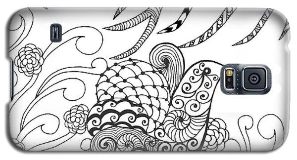 Branch Galaxy S5 Case - Cute Bird In Flower Garden. Animals by Palomita
