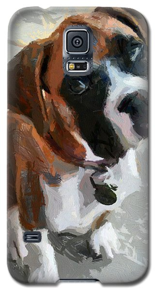 Galaxy S5 Case featuring the painting Cute Dog by Georgi Dimitrov