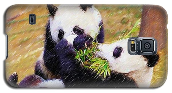 Cute Pandas Play Together Galaxy S5 Case by Lanjee Chee