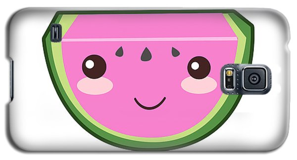 Watermelon Galaxy S5 Case - Cute Watermelon Illustration by Pati Photography