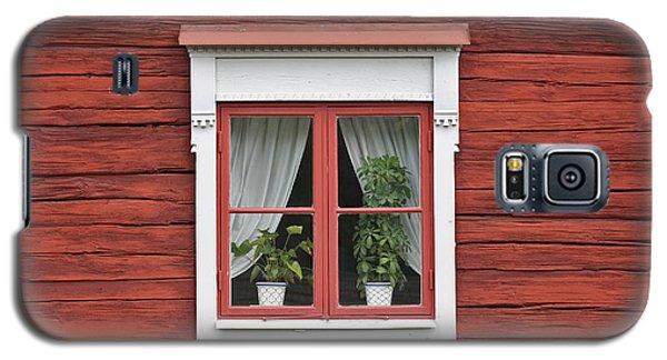 Cute Window On Red Wall Galaxy S5 Case