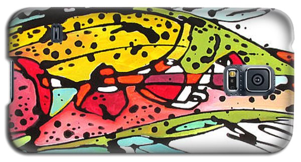 Galaxy S5 Case featuring the painting Cutthroat Trout by Nicole Gaitan