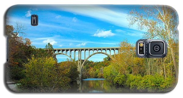 Cuyahoga Valley Scenic Railroad - Brecksville Station Galaxy S5 Case by Dennis Lundell