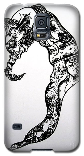 Galaxy S5 Case featuring the drawing Cyberworm by Devin  Cogger