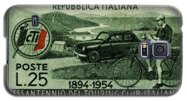 Cycling And Driving Italian Touring Club Stamp Galaxy S5 Case