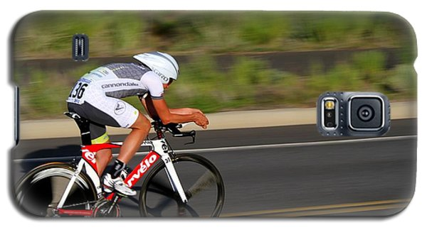 Galaxy S5 Case featuring the photograph Cycling Time Trial by Kevin Desrosiers