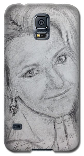 Galaxy S5 Case featuring the painting Cyndi  by Stan Tenney