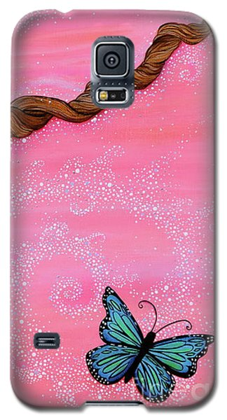 Galaxy S5 Case featuring the painting Cypress Wand by Deborha Kerr