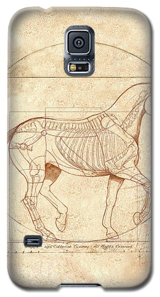 da Vinci Horse in Piaffe Galaxy S5 Case by Catherine Twomey