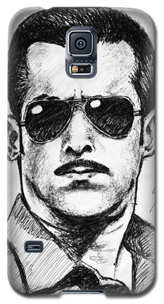 Galaxy S5 Case featuring the painting Salman Khan by Salman Ravish